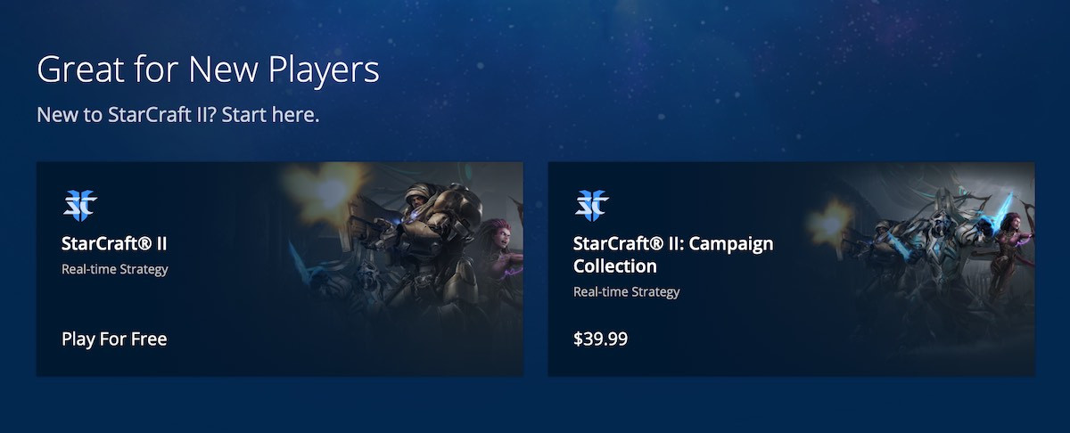 Starcraft paid campaigns